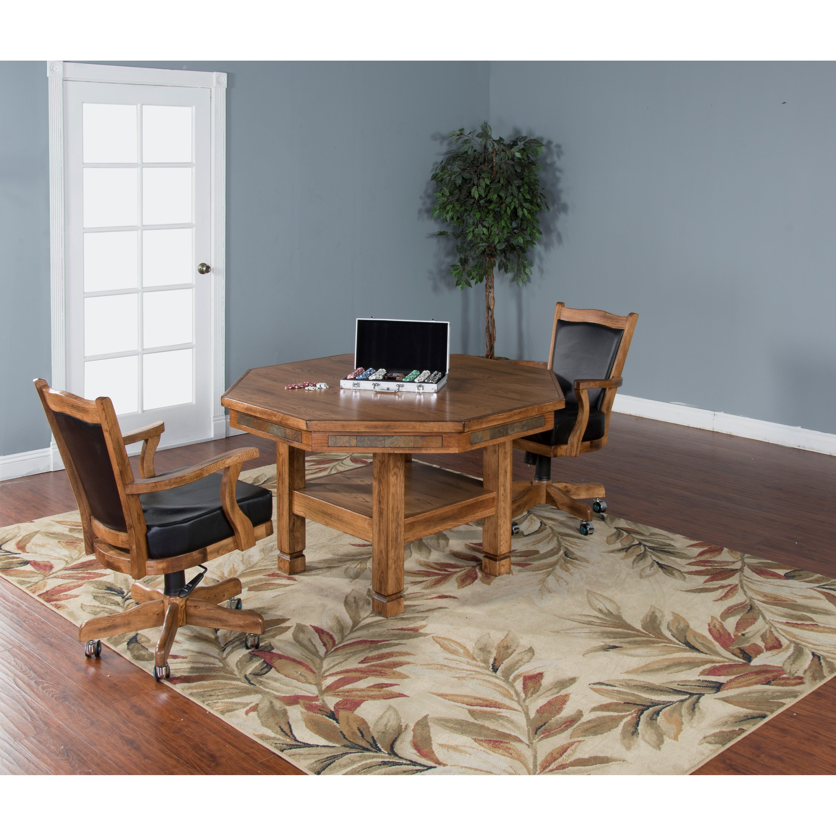 5 Piece Game Dining Table Set