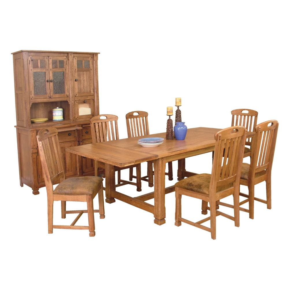 solid oak top extension table with 2 leaves by sunny designs