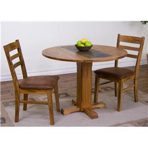 Sunny Designs Sedona 3-Piece Drop-Leaf Table & Chair Set