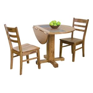 Sunny Designs Sedona 3-Piece Drop Leaf Table w/ Slate & Chair Set
