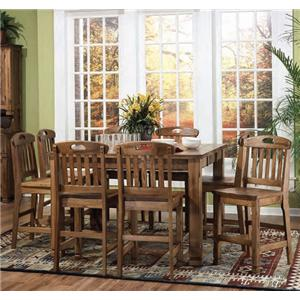 Sunny Designs Sedona Family Table & 8 Barstool Set