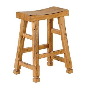 "Sunny Designs Sedona 24"" Saddle Seat Barstool"