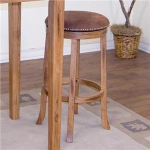 "Morris Home Furnishings Morris Home Furnishings  Wakefield 24"" Backless Swivel Barstool"