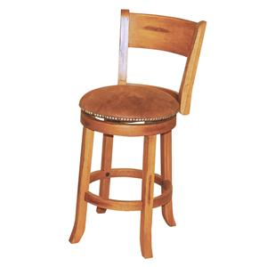 "Sunny Designs Sedona 24"" Swivel Stool w/ Back"