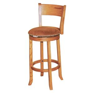 "Morris Home Furnishings Morris Home Furnishings  30"" Swivel Stool w/ Back"