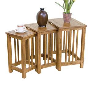 Sunny Designs Sedona 3-pc Nesting Table