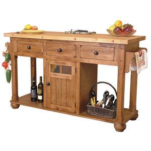 Sunny Designs Sedona Kitchen Island Table