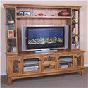 Sunny Designs Sedona Media TV Console & Hutch - Item Number: 2702RO-TC+H