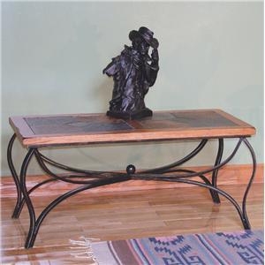 Sunny Designs Sedona Coffee Table w/ Slate Top & Metal Base