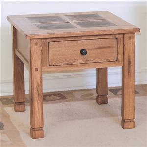 Sunny Designs Sedona End Table w/ Slate Top