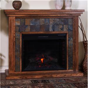 "Sunny Designs Sedona Fireplace Media Console w/ 28"" Firebox"