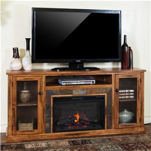 Sunny Designs Sedona Fireplace Media Console w/ Firebox