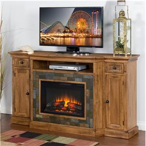 "Sunny Designs Sedona Fireplace TV Console w/  26"" Firebox"