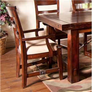 Sunny Designs Vineyard Ladder-Back Dining Arm Chair