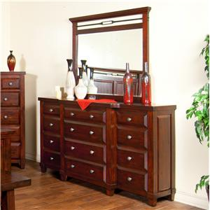 Sunny Designs Vineyard Dresser and Mirror