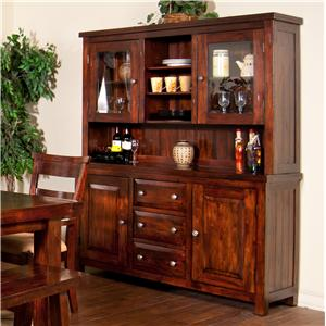 Sunny Designs Vineyard 2-Piece China Cabinet