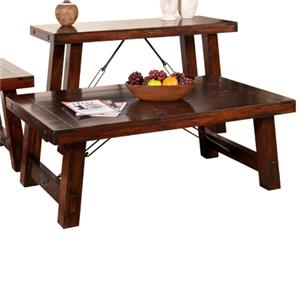 Sunny Designs Vineyard Solid Mahogany Cocktail Table