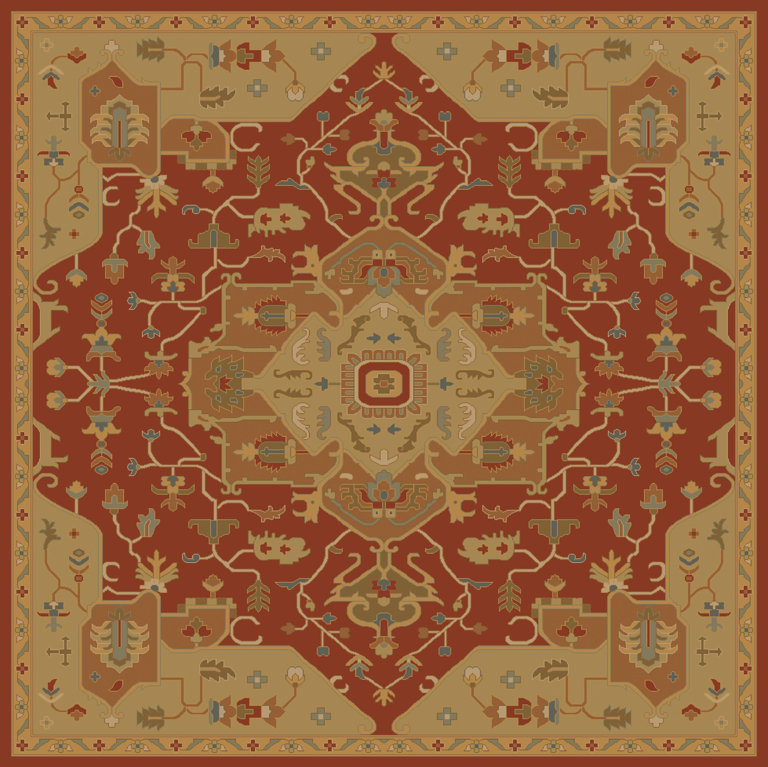 """Oriental Rugs Hagerstown Md: 9'9"""" Square By Surya"""
