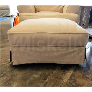 Synergy Home Furnishings 669 Natural Slipcover Ottoman