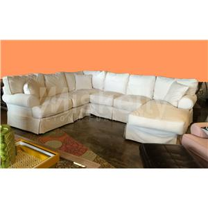 Synergy Home Furnishings 669 Natural 3PC Slipcover Sectional
