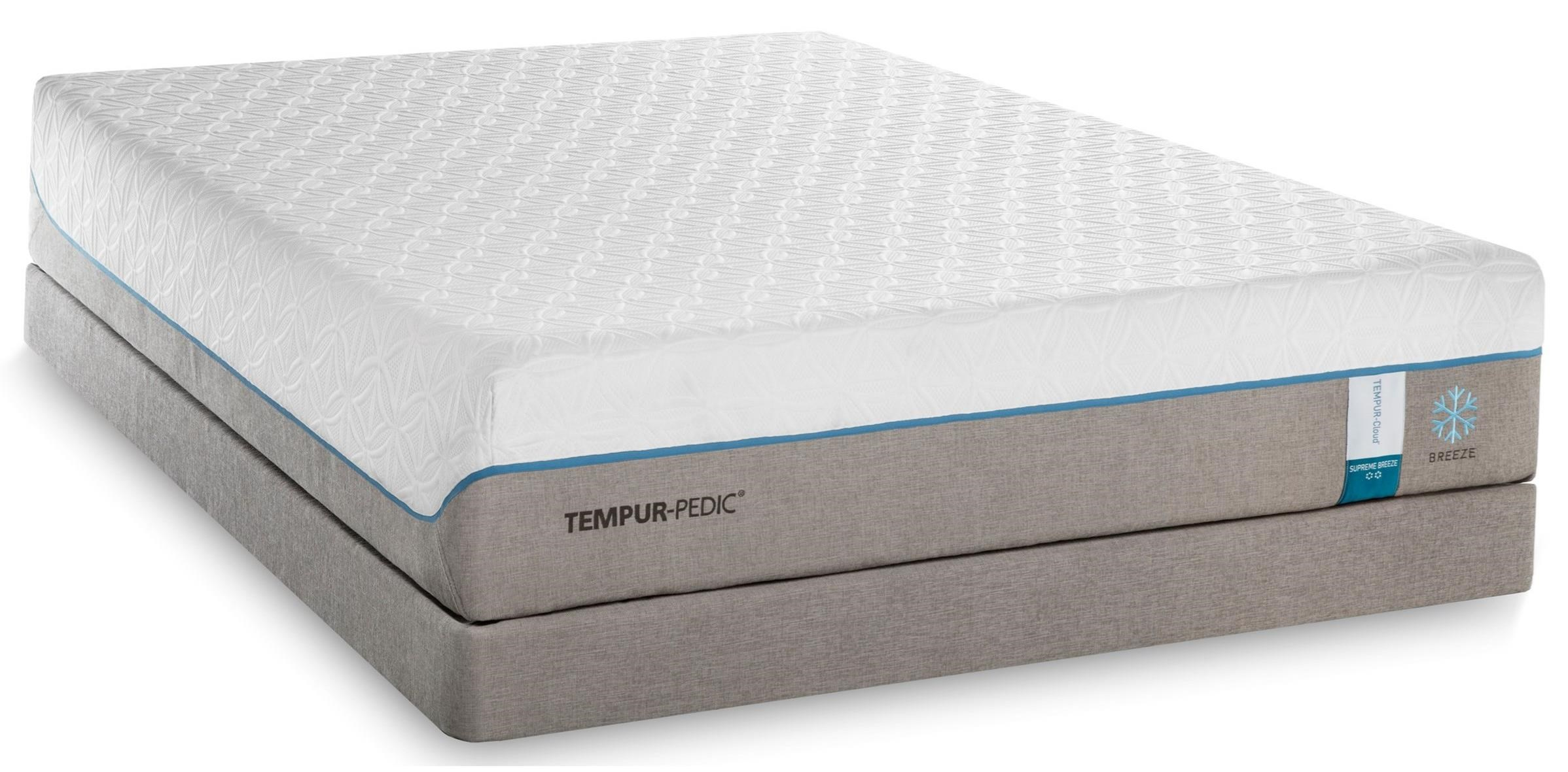 King Soft Mattress And Grey Low Profile Foundation By