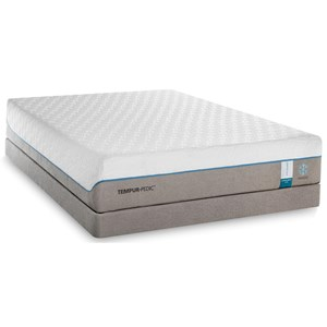 California King Soft Mattress and Grey Low Profile Foundation