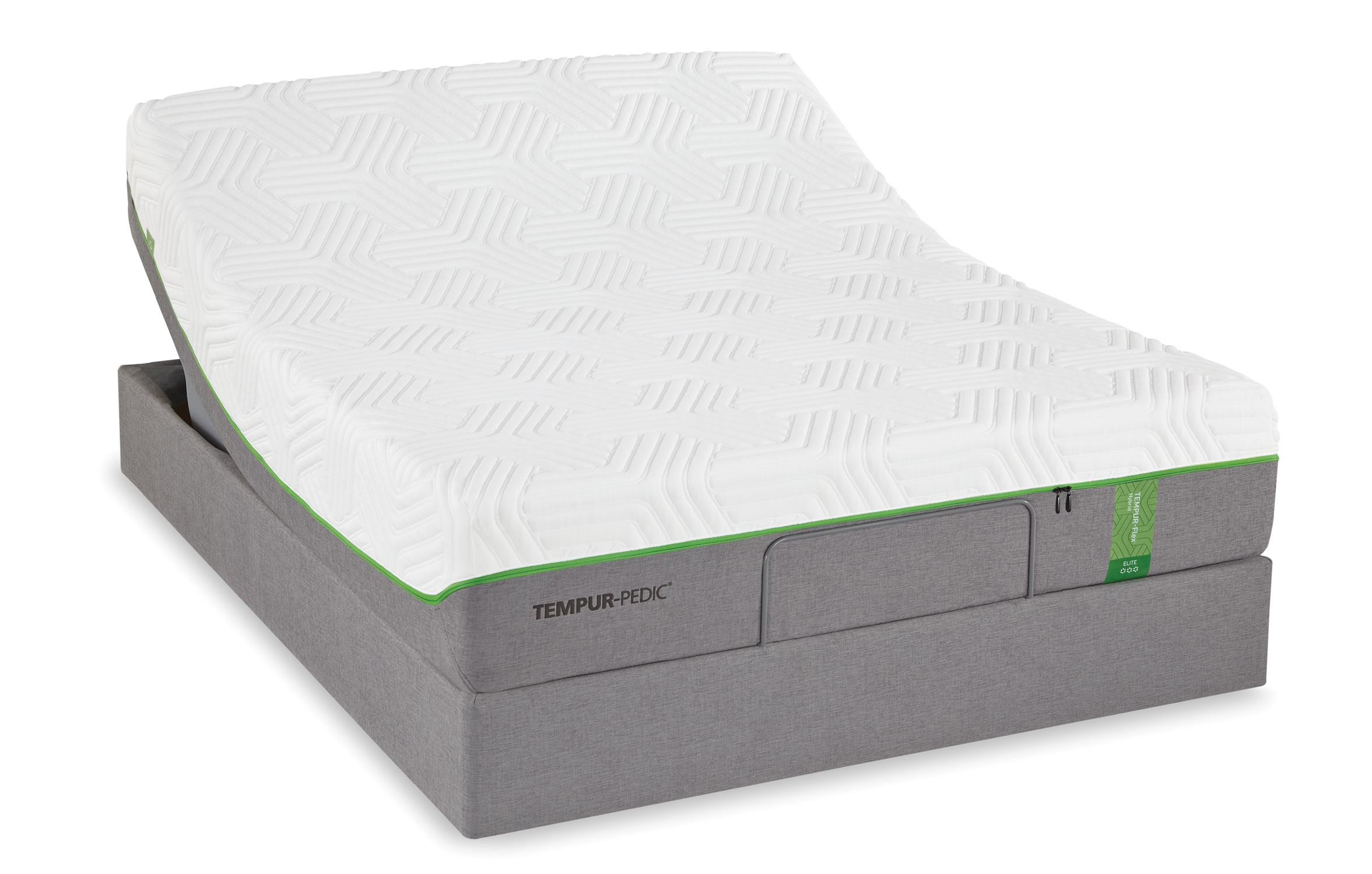 Cal King Medium Soft Plush Mattress And Tempur Up Adjustable Foundation By Tempur Pedic Wolf