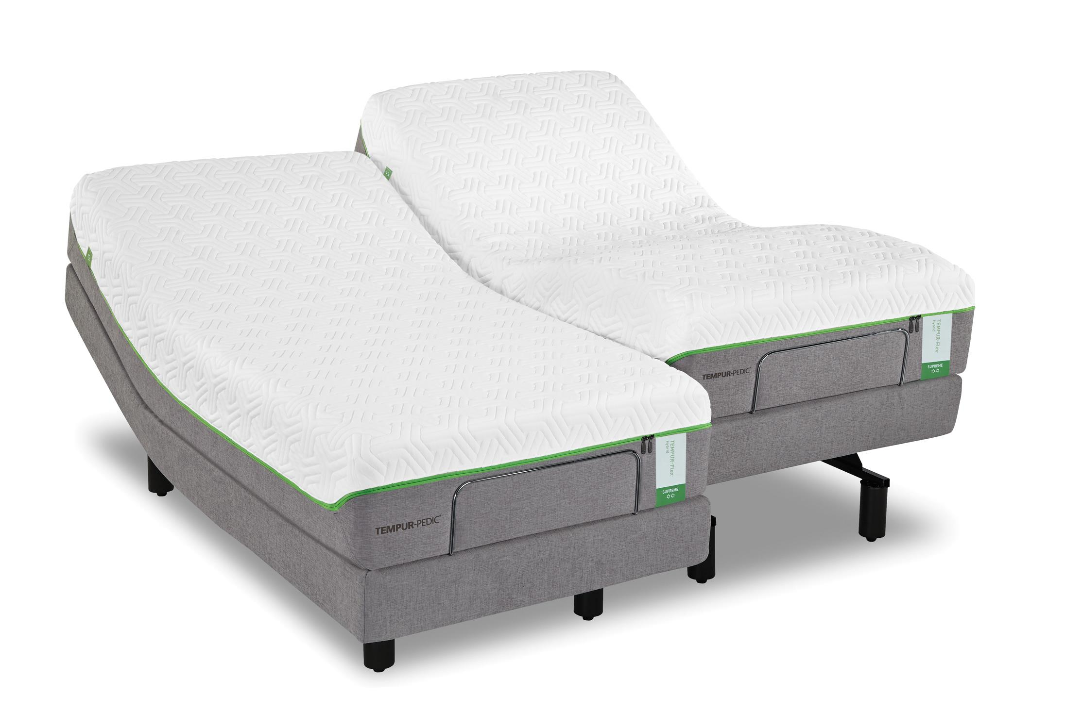 Queen Medium Plush Mattress and TEMPUR Ergo Plus Base by Tempur