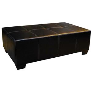 The 2000 Design Buckeye Black Ottoman