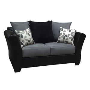 The 2000 Design Buckeye Black Loveseat