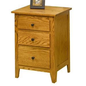 Casual Small 3 Drawer Nightstand