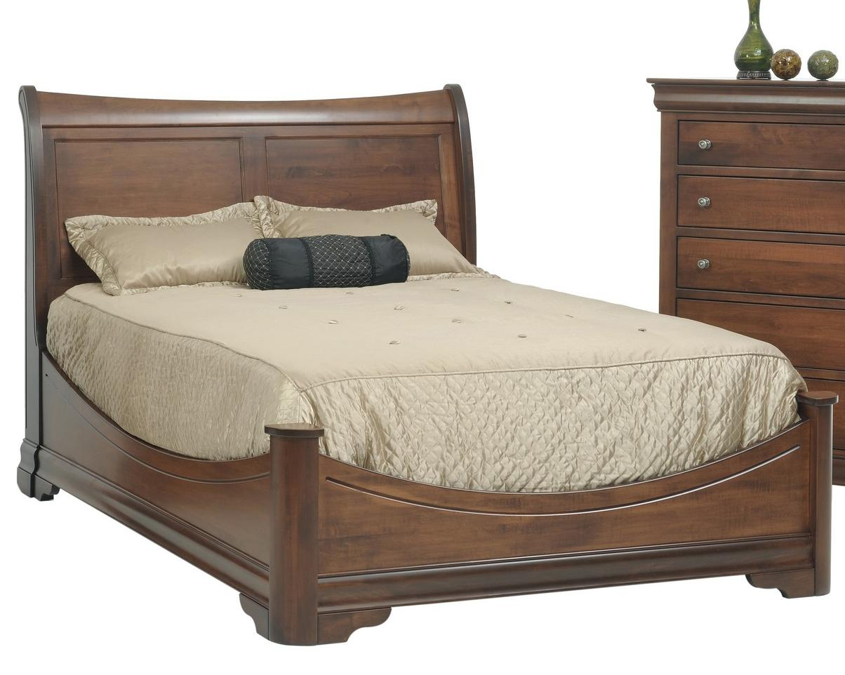 Queen Sleigh Bed With Wraparound Footboard