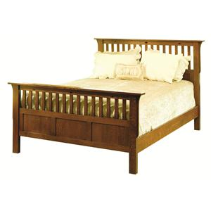 Mission Queen Flat Panel Bed