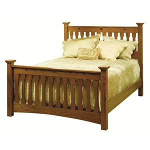 Mission Twin Railside Bed with Diamond Carved Inlay