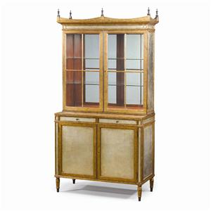 Theodore Alexander Bookcases Eglomise Display Cabinet