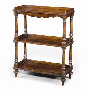 Theodore Alexander Bookcases Antiqued Wood 3 Tiered Etagere