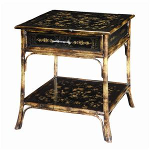 Theodore Alexander Tables Bamboo Square End Table