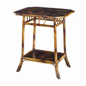 Theodore Alexander Tables Rectangular Bamboo End Table