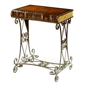 Theodore Alexander Tables Victorian Faux Book End Table