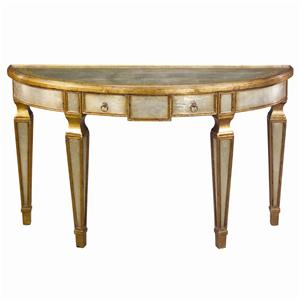 Theodore Alexander Tables Demi Lune Sofa Table
