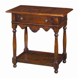 Theodore Alexander Tables Rectangular Antiqued Wood End Table