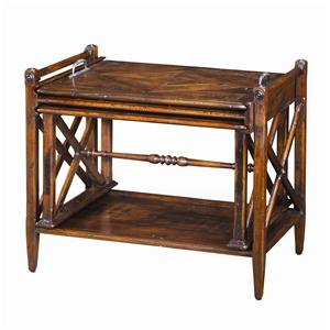 Theodore Alexander Tables Antiqued Wood Parquetry Table Nest