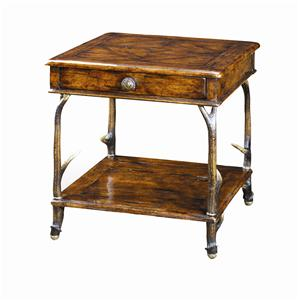 Theodore Alexander Tables Faux Deer Antler End Table