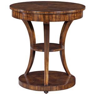 Theodore Alexander Vanucci Eclectics Walnut Lamp Table