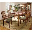Thomasville® Bridges 2.0 Dining Side Chair - Shown with Arm Chairs, Leg Table & China