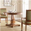 Thomasville® Bridges 2.0 Dining Club Chair with Casters - Shown with Round Pedestal Table
