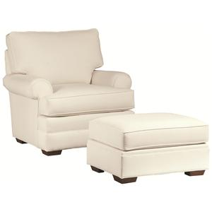 Thomasville® Chesapeake  Comfortable Chair and Ottoman