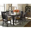 Thomasville® Color Café - Custom Dining Customizable Rectangular Table - Shown with Side Chairs and China Cabinet