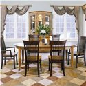 Thomasville® Color Café - Custom Dining Customizable Side Chair - Shown with Oval Dining Table, Arm Chairs, and China Cabinet