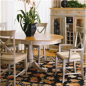 Thomasville® Color Café-Custom Dining <B>Customizable</B> Round Table